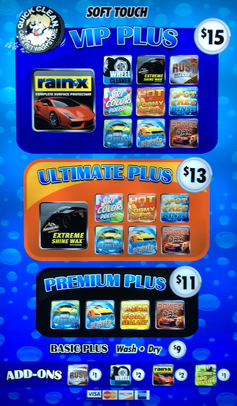 Automatic Vehicle Car Wash Options Quick Clean