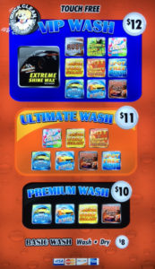 Touch Free Wash Menu